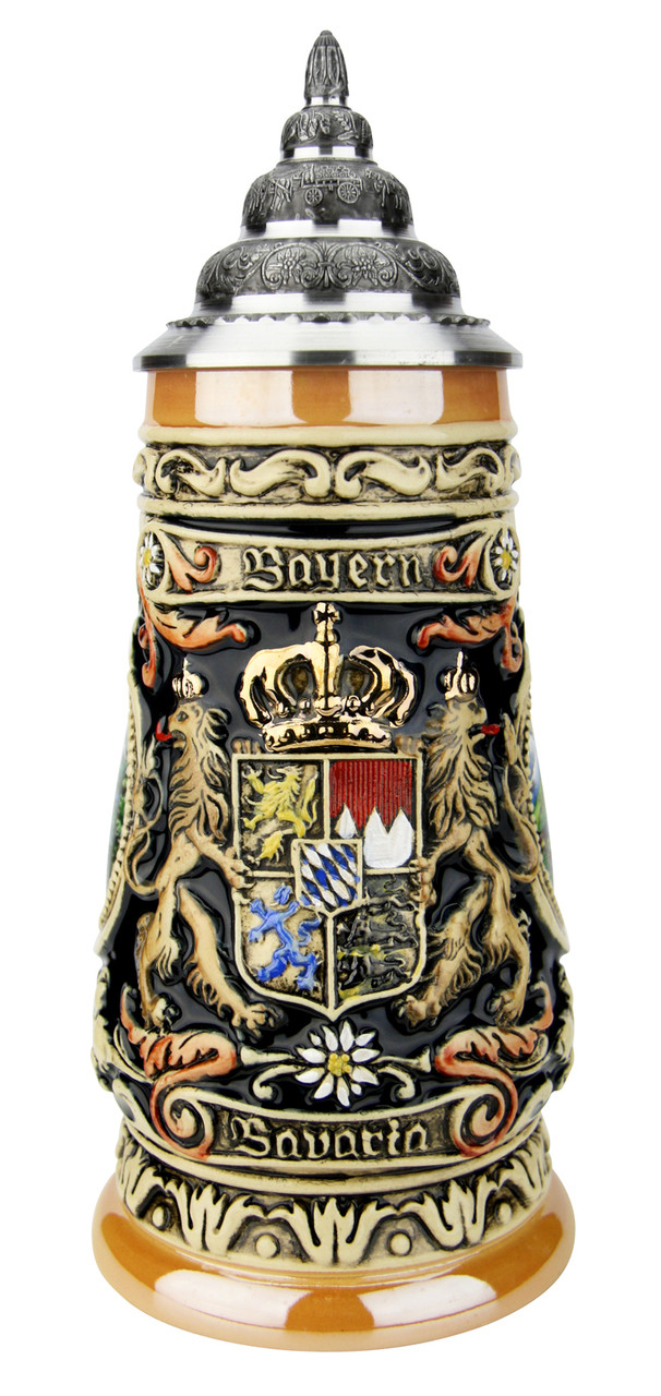 Bavaria Oberammergau German Beer Stein