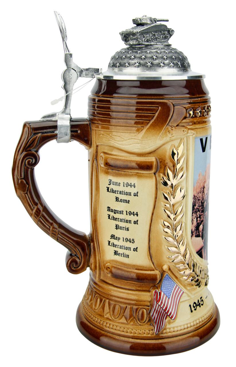 75 Years VE-Day Anniversary Beer Stein | Tank Lid