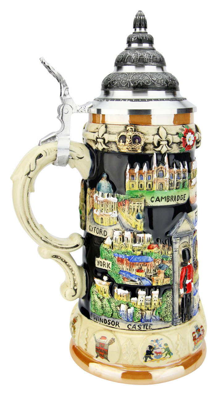 England Panorama Beer Stein