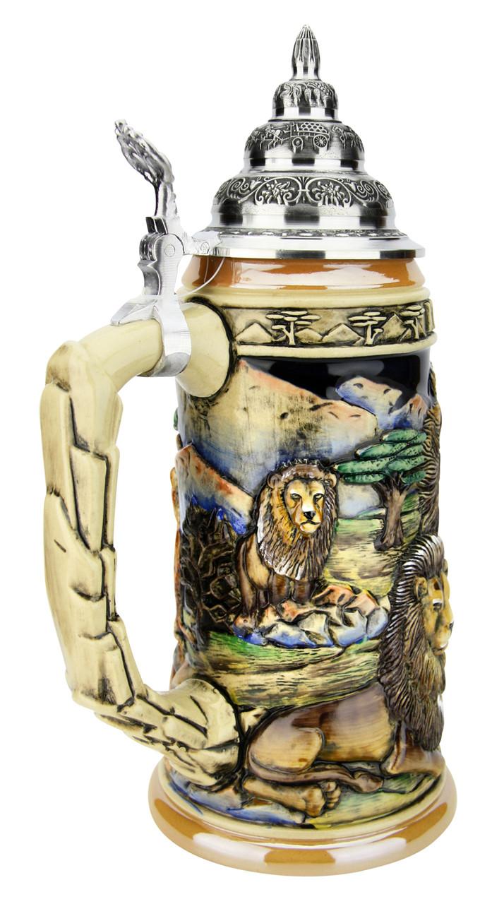 Lion King of Beasts Beer Stein