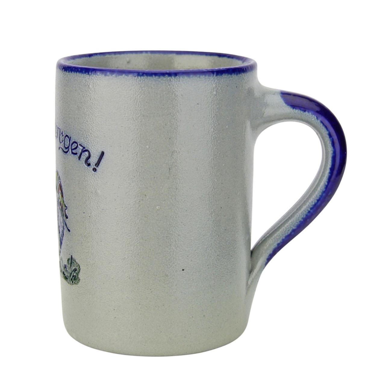 Guten Morgen | Good Morning Rooster Salt Glaze Coffee Cup