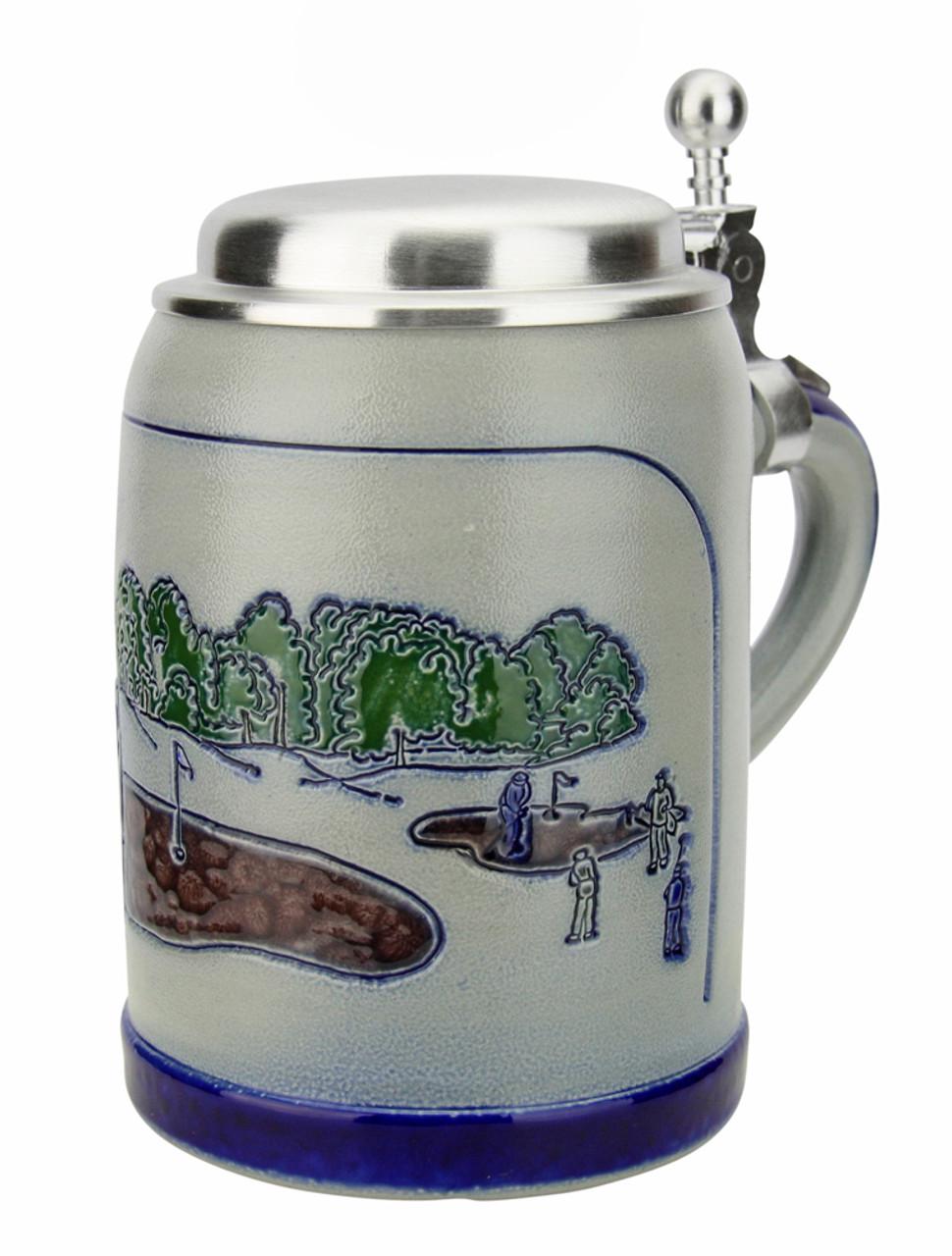 Golfer 0.5 Liter Salt Glaze Stoneware Beer Stein