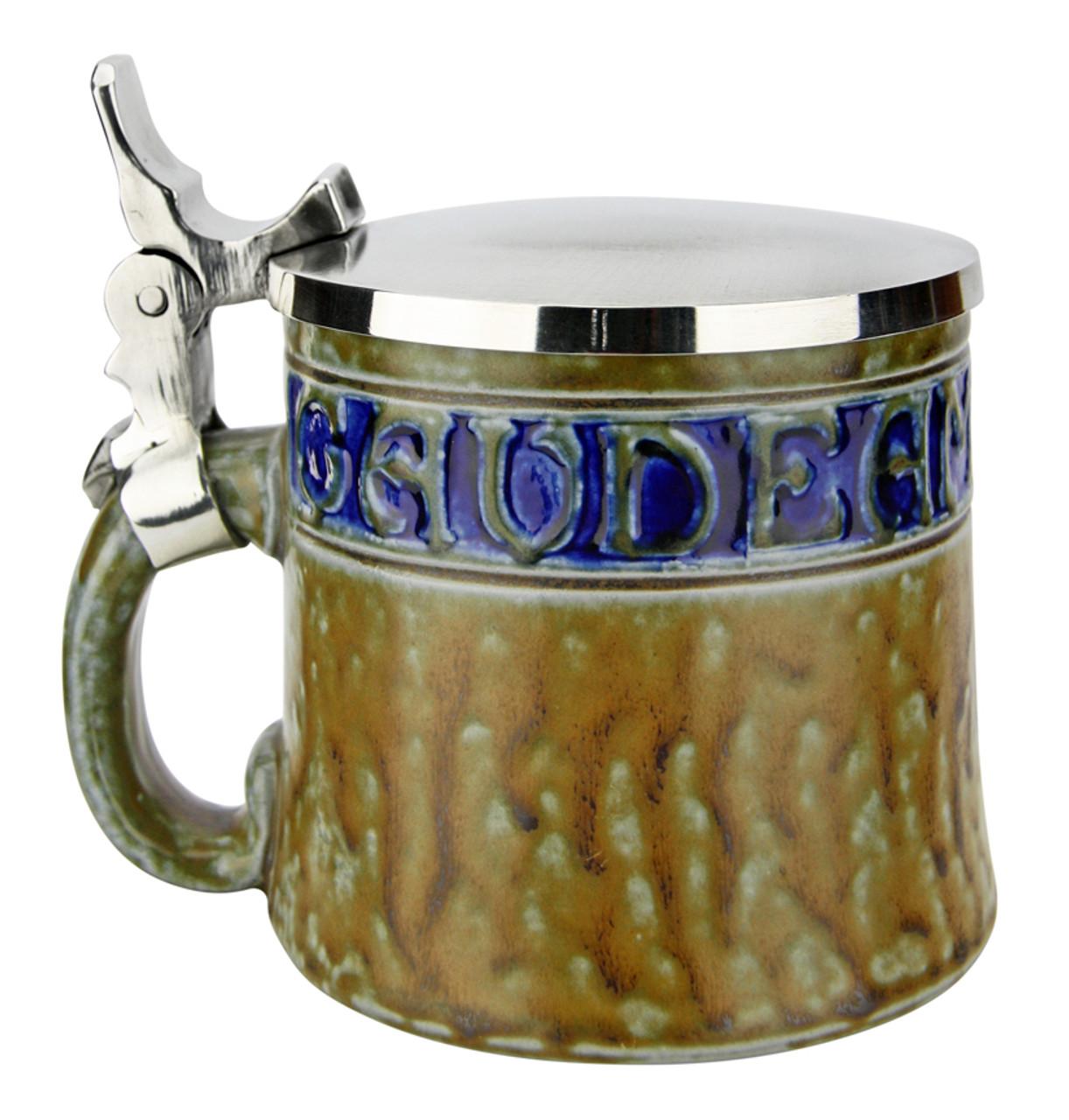 Gaudeamus Igitur Salt Glaze Beer Stein