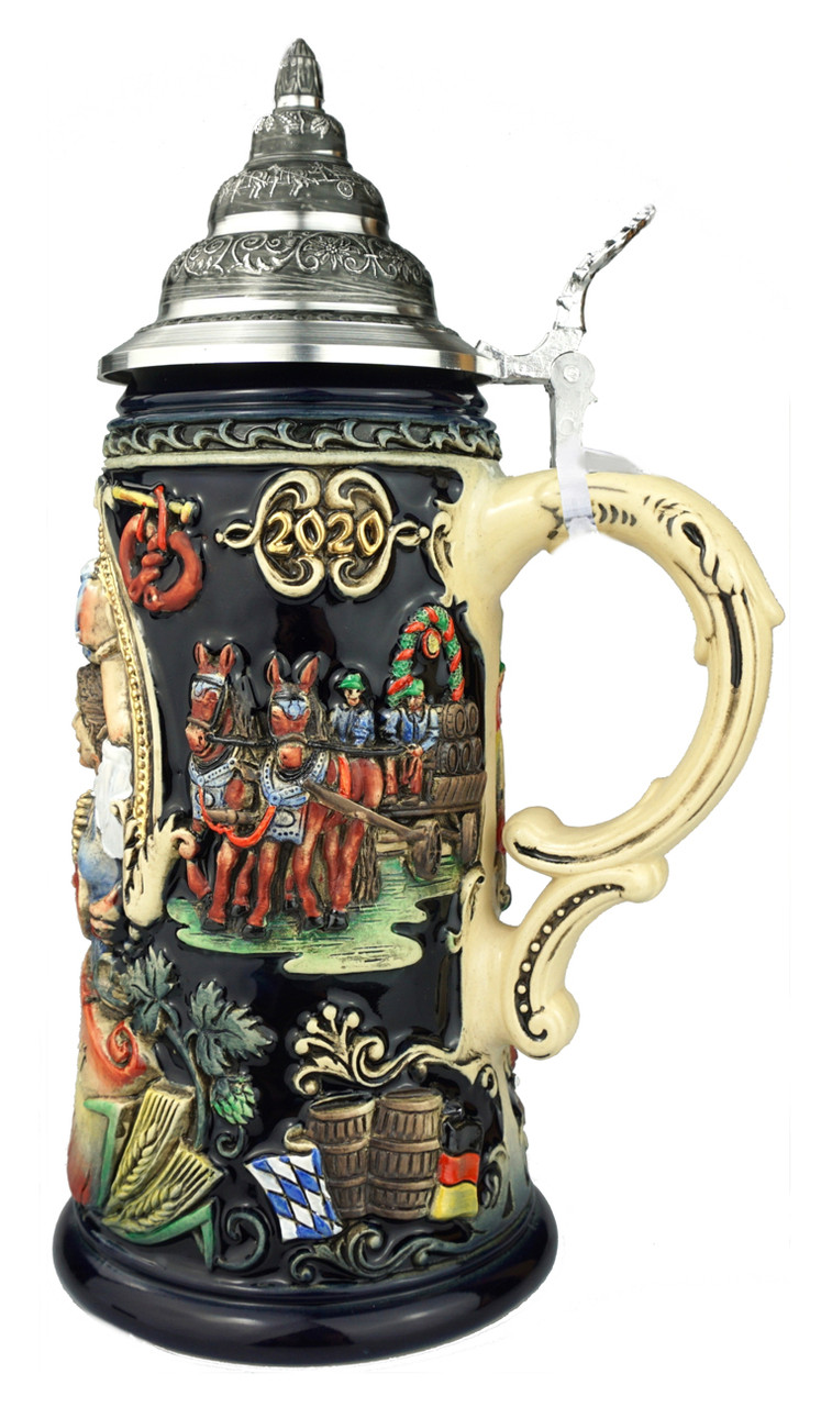 210th Anniversary Oktoberfest at Home Beer Stein | King Werk 2020 Oktoberfest Beer Stein