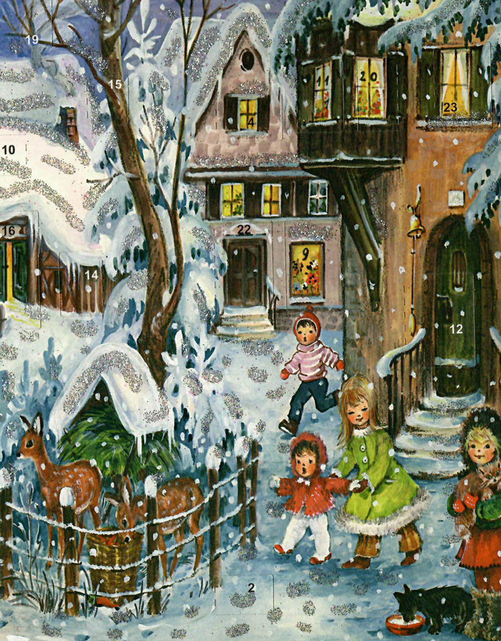First Snow German Christmas Advent Calendar