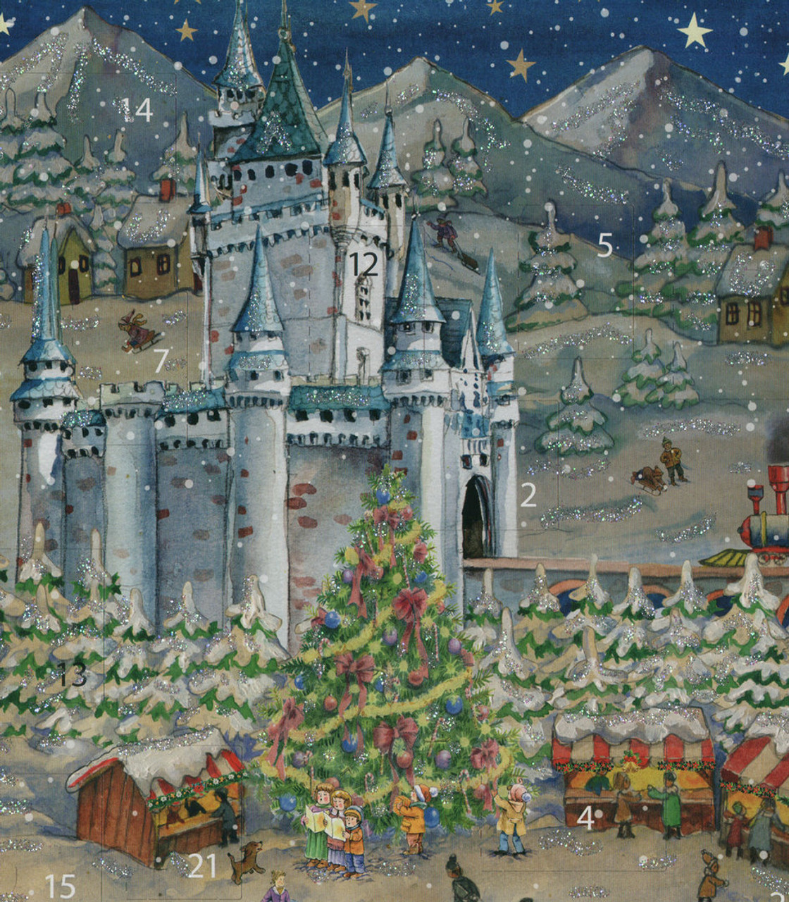Castle Christmas Market German Advent Calendar