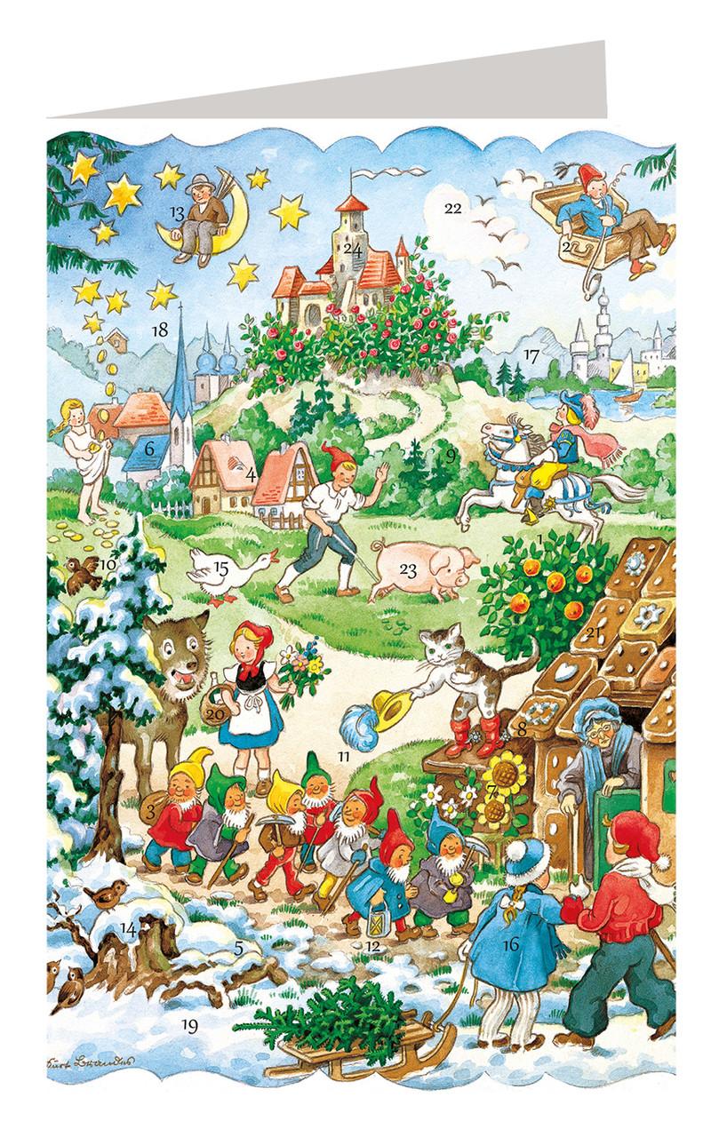 Fairy Tales German Advent Calendar Christmas Card