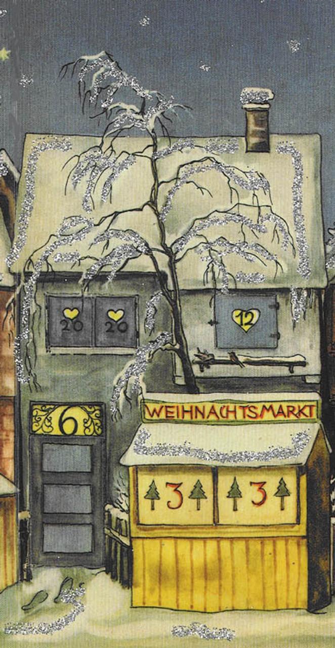 The Little Town 1946 Original Reprint German Advent Calendar