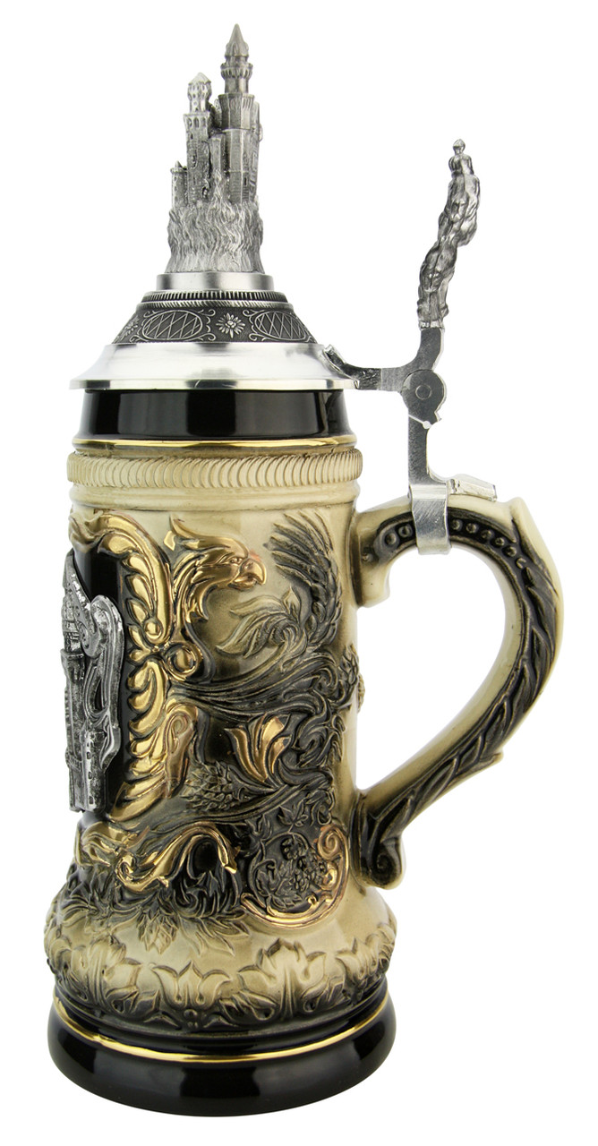 Neuschwanstein Beer Stein with Castle Lid