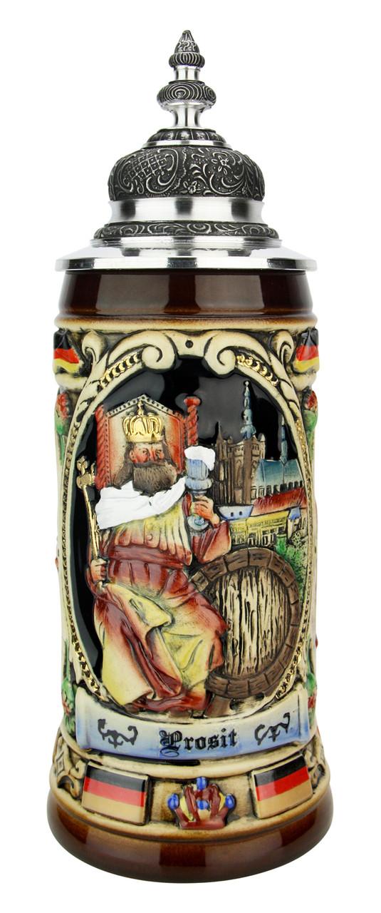 King Gambrinus Brewers Prosit Beer Stein