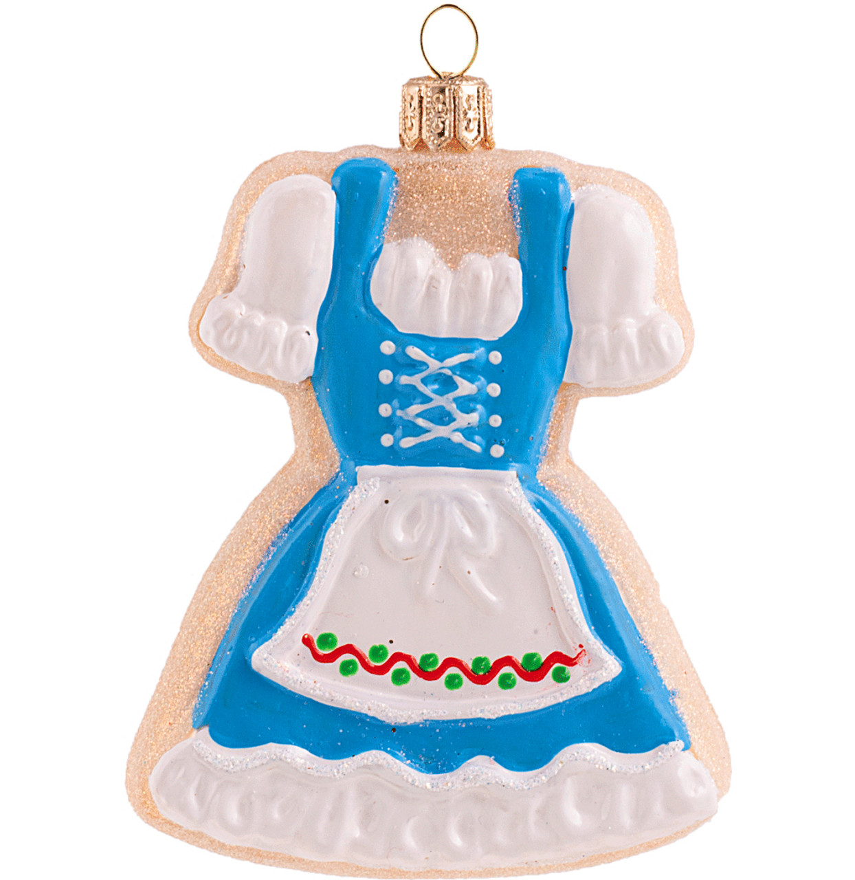 Dirndl Sugar Cookie Glass Christmas Ornament