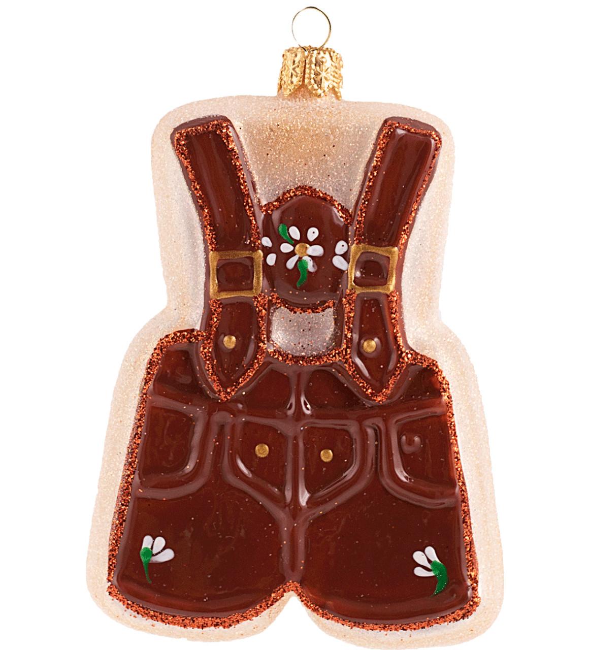 Lederhose Sugar Cookie Glass Christmas Ornament