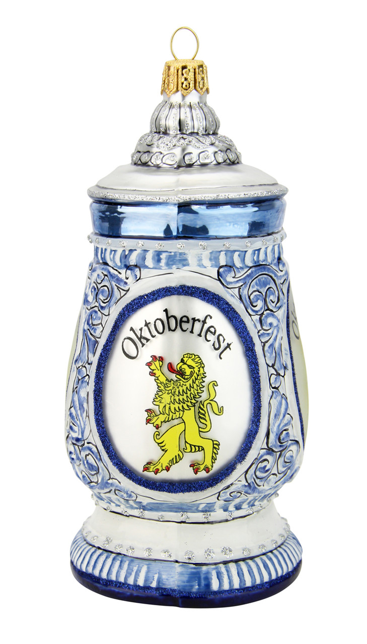 Oktoberfest Beer Stein Glass Christmas Ornament