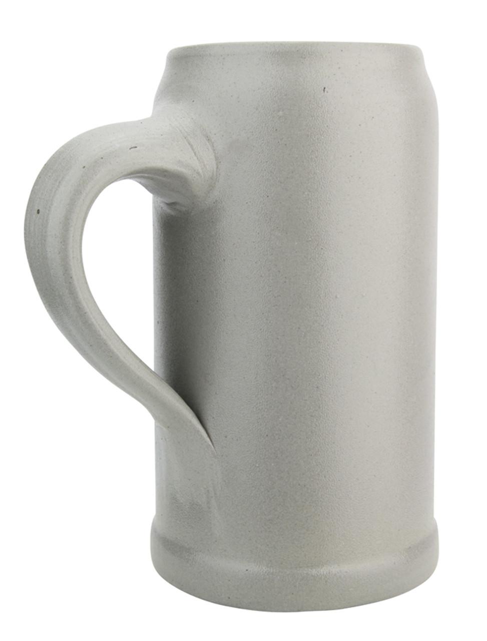 German Stoneware Salt Glaze Beer Mug 1 Liter