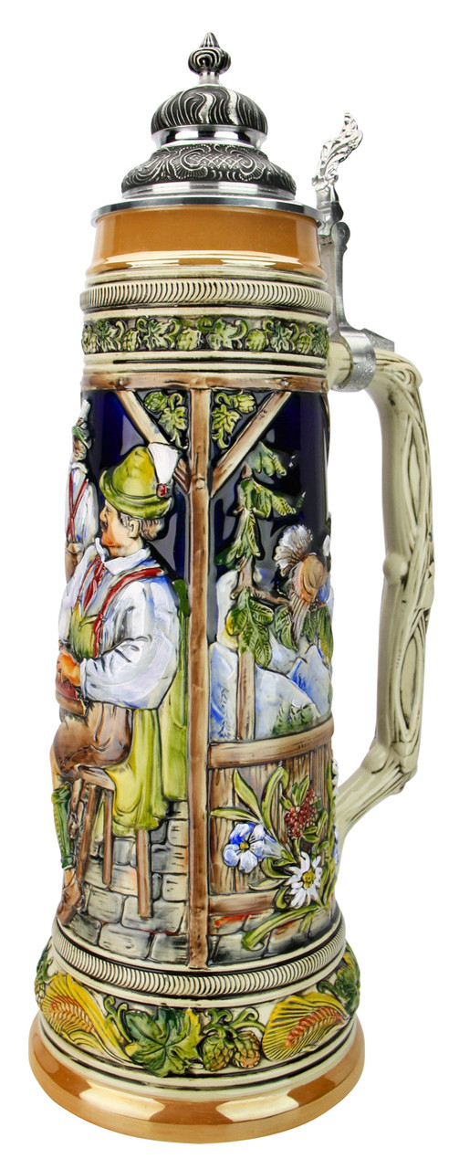 4 Liter Alpine Scenes Beer Stein