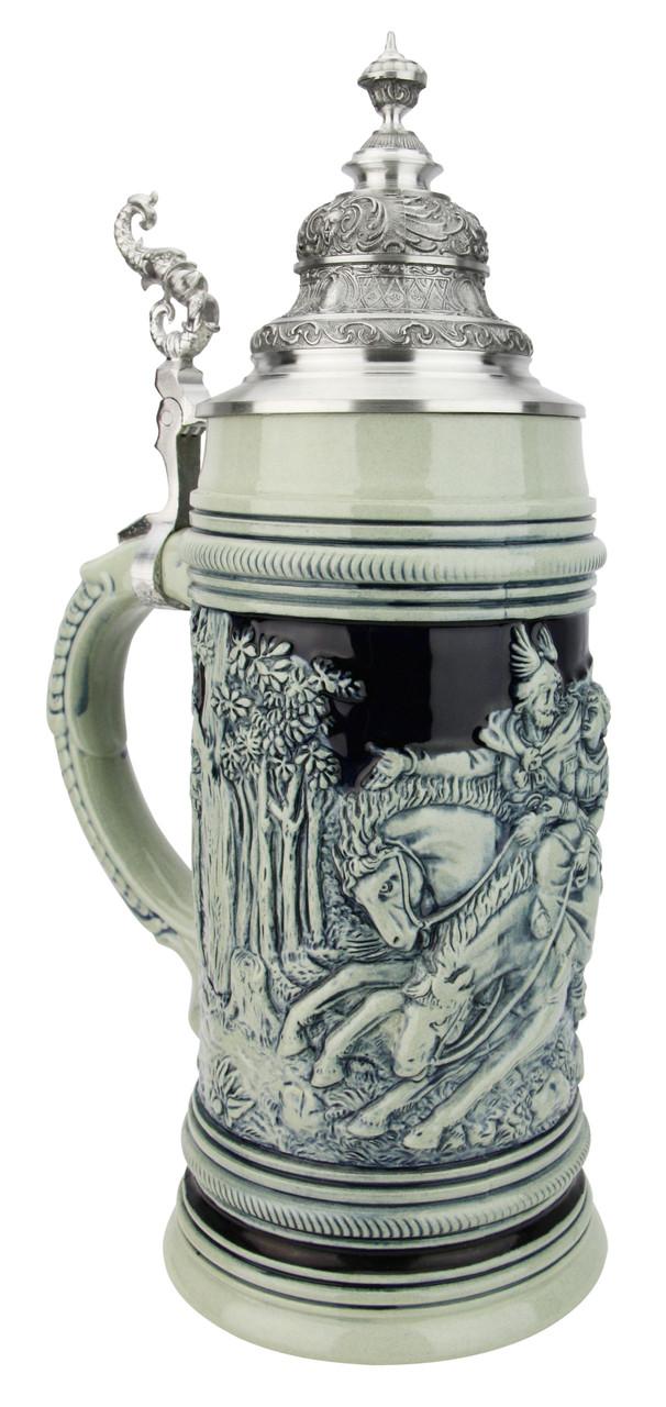 Cherusker Duemler Beer Stein Cobalt Blue