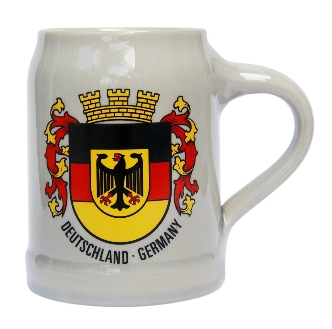 Deutschland Crest German Stoneware Beer Mug 0.5 Liter