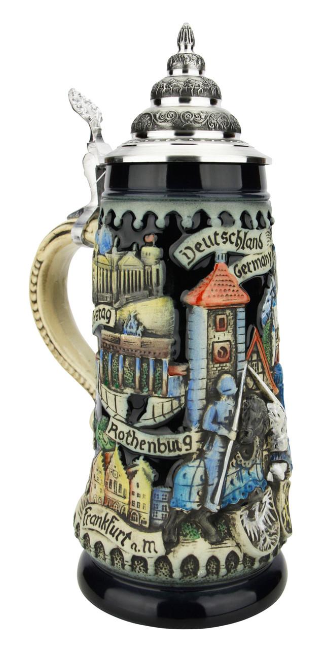 Deutschland Germany Jousting Knights Beer Stein