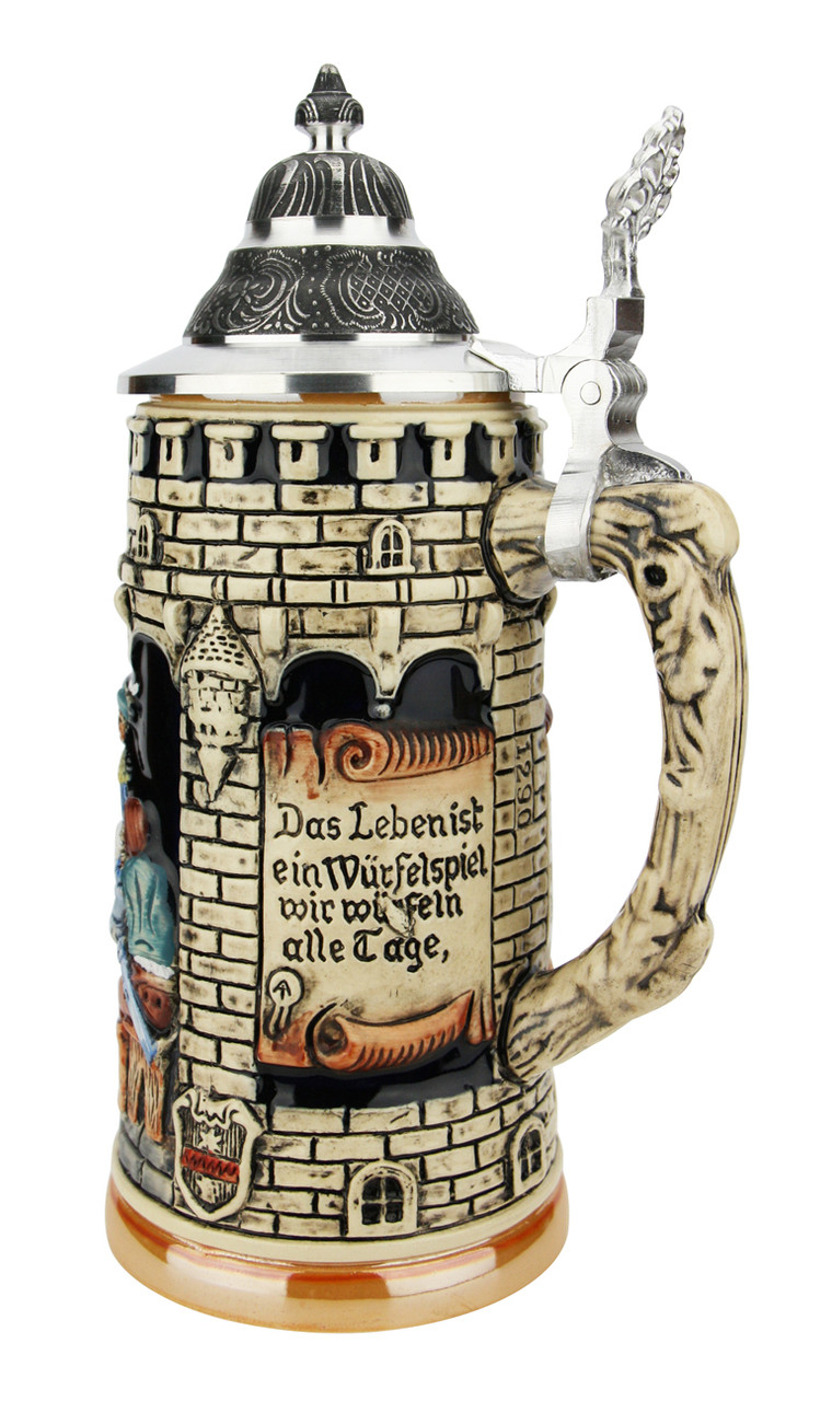 Lifes a Gamble Medieval Themed Beer Stein
