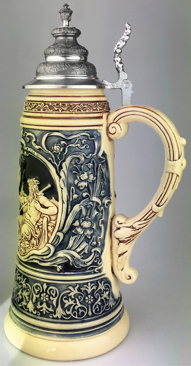 King Limitaet 2021   Rhein and Mosel River Antique Style Beer Stein