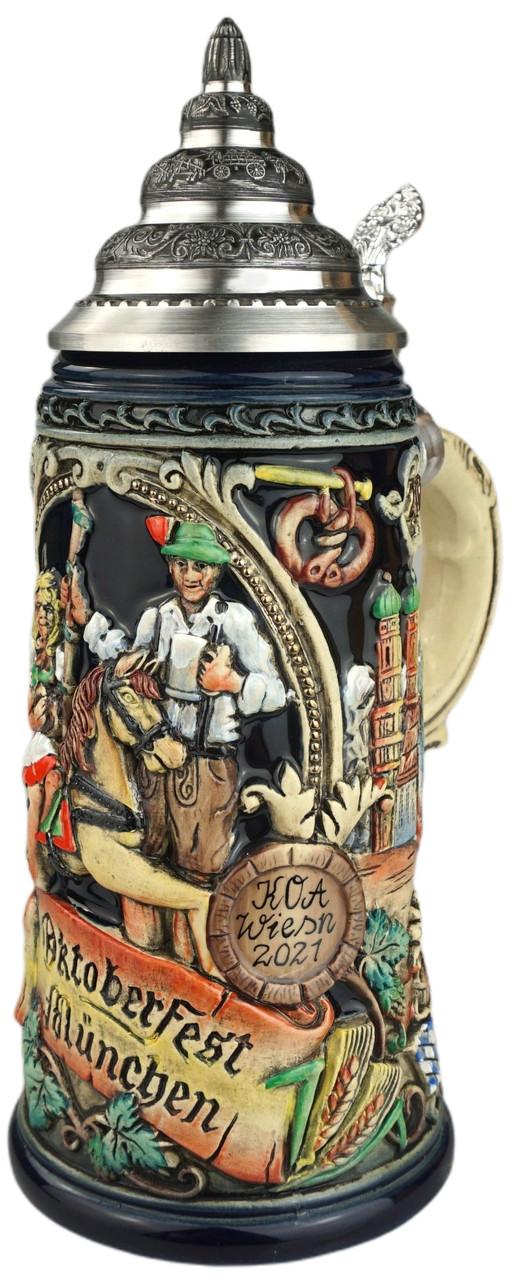 211th Anniversary Oktoberfest Koa Wiesn Beer Stein | King Werk 2021 Oktoberfest Beer Stein