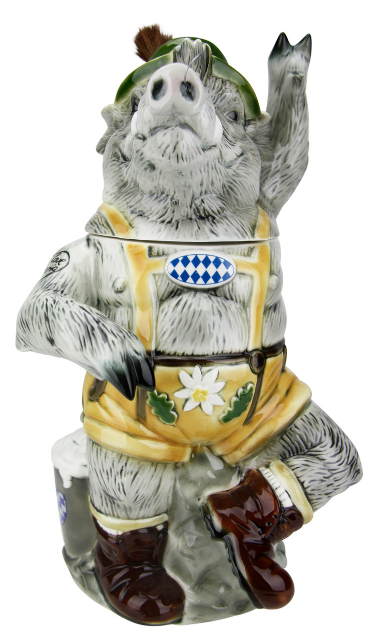 Max the Bavarian Boar Stein