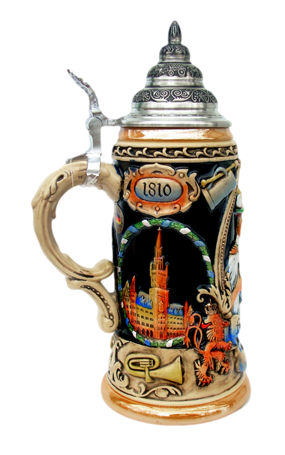 Munich Oktoberfest Beer Stein with Carrying Handle
