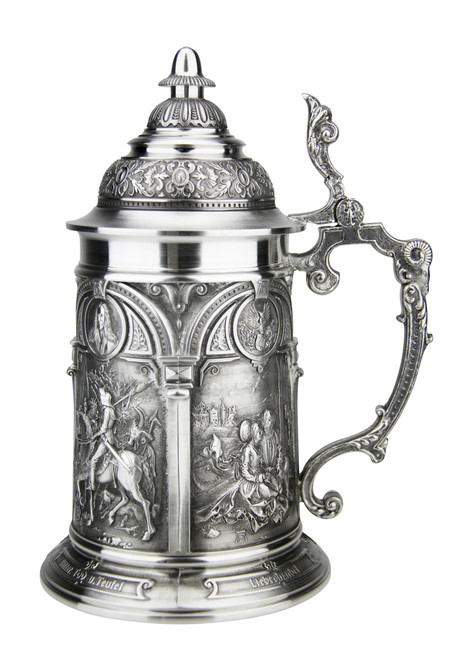 Authentic German Beer Steins with Lids | Imported Pewter