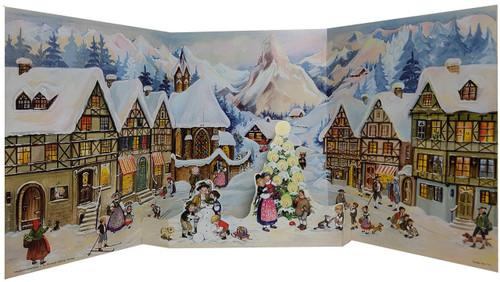 Alpine Village 1952 Reproduction German Advent Calendar