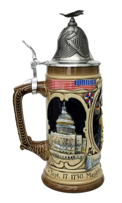 Baron Friedrich Von Steuben Beer Stein Capitol