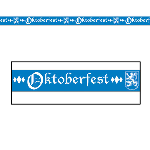 Bavarian Blue Oktoberfest Poly Streamer