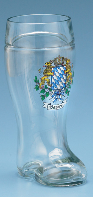 Traditional Glass 1 Liter Beer Boot for Sale