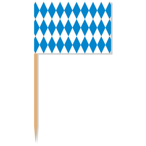 Bavarian Flag Accent Toothpick 50pk