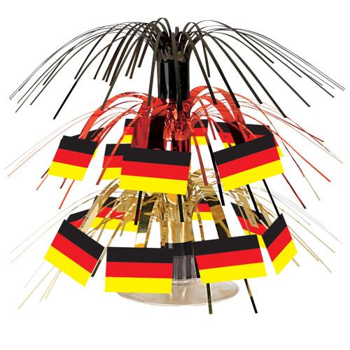 Cascading German Flag Centerpiece 7.5in tall