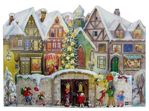 Traditional German Advent Countdown Calendar Christmas Village