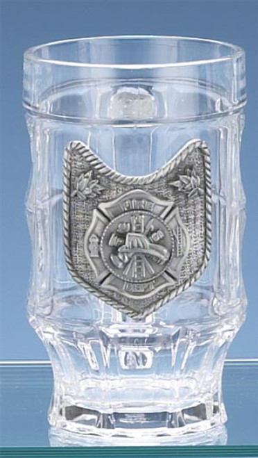 Personalized Fire Department Glass Beer Stein