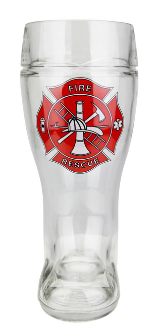 Firefighter Glass Beer Boot 1 Liter