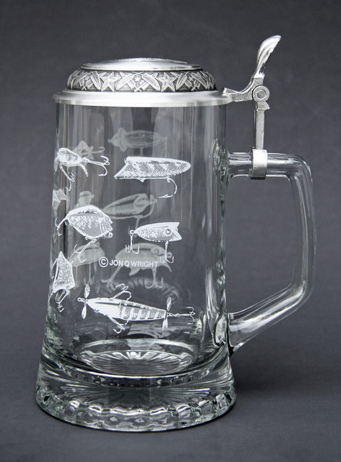 Authentic German Beer Stein for Fishermen