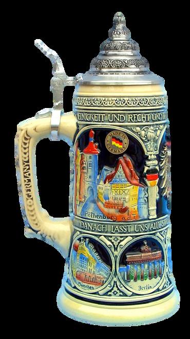 German Heritage National Anthem Beer Stein