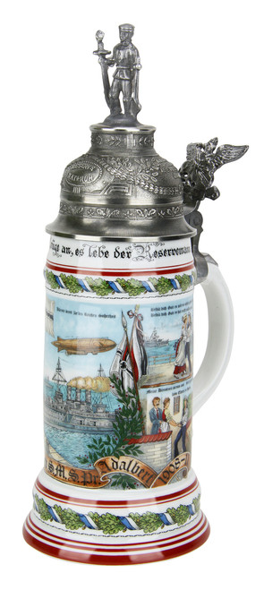 German Navy Regimental Beer Stein