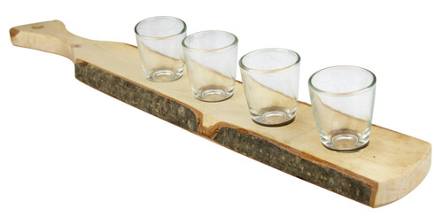 German Wooden Shot Glass Paddle Large