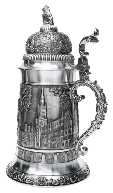 Giant Bavaria Pewter Beer Stein