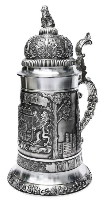 Giant Bavaria Pewter Beer Stein