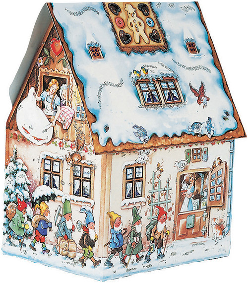 Gingerbread House Shaped 3D German Advent Calendar