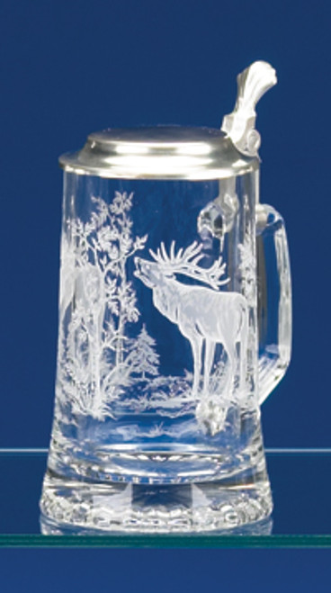 Personalized Traditional Elk German Glass Stein