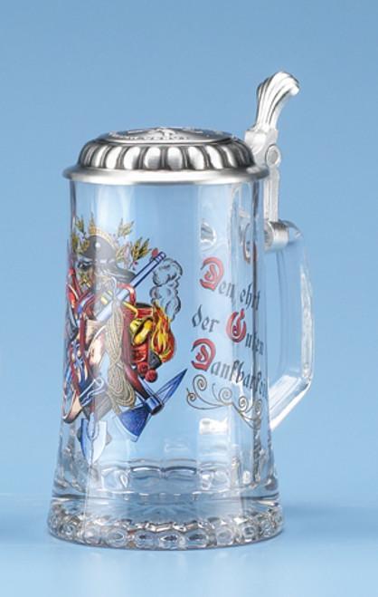 Firefighter Glass Beer Stein