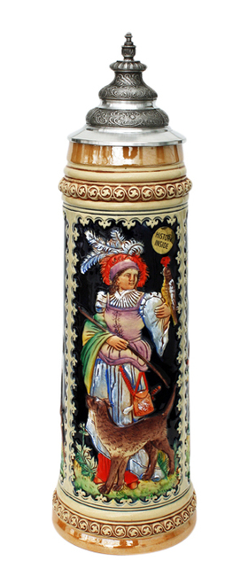 King Limitaet 2004 | Goddess of Hunters Handpainted Beer Stein