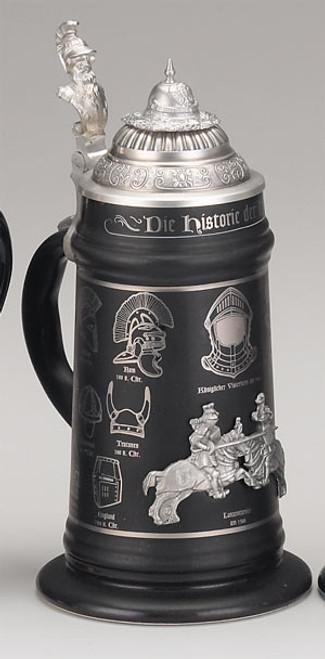 History of the German Helmet Beer Stein