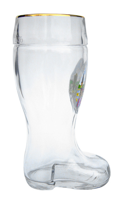 Authentic 1 Liter German Glass Beer Boot