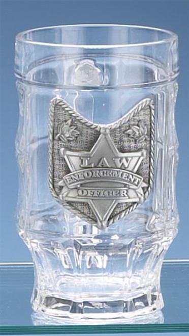 Authentic Faceted Law Enforcement German Beer Mug